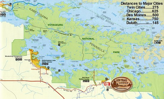 Map of the Voyageurs National Park