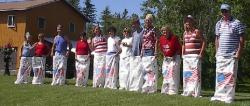 Sack race on Independce Day