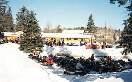 The Lodge gets pretty busy with good riding!